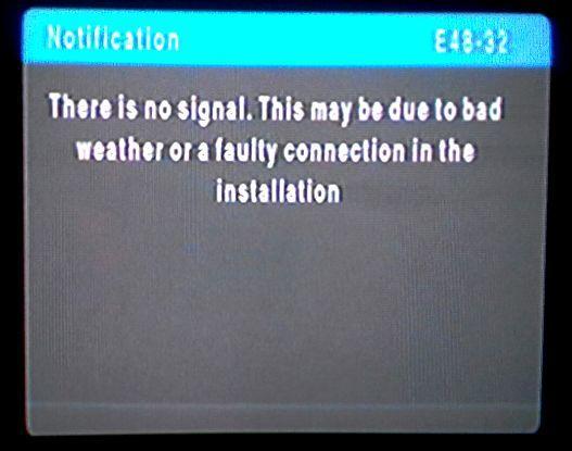 20E48-32 no signal